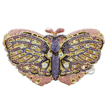 Handcrafted Butterfly Shaped Diamond Evening Bag/Clutch