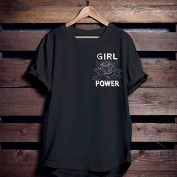 Girl Power Tshirt, Feminism Tee Girl Power Shirt, Girls shirt top, Feminism Shirt Rose
