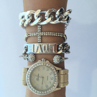 Vanilla Silver Watch Set from shopoceansoul