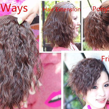 20CM Curly Afro Bang Clip In On Hair Bangs Fringe Extensions Heat Resistant Multiple Use Hair Piece