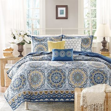 Grace Boho Medallion 6PC Microfiber Coverlet Bed Set