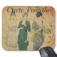 French Postcard Mouse Pad