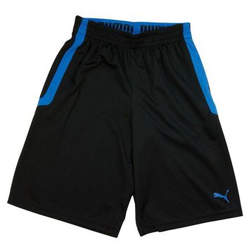 PUMA Striped Mesh Shorts - Boys