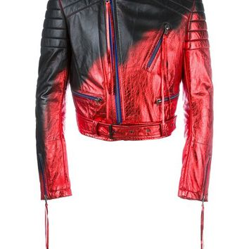 Haider Ackermann Metallic Biker Jacket - Farfetch