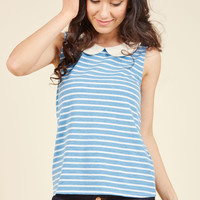 Everyday Fave Tank Top in Blue | Mod Retro Vintage Short Sleeve Shirts | ModCloth.com