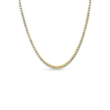 3mm Tennis Necklace (Gold)