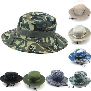 Brand Men Bucket Hat Women Bob Caps Panama Camouflage Sad Boy Flat Hats For Men Cap Snapback Cotton Boonie Sun Bucket Hat
