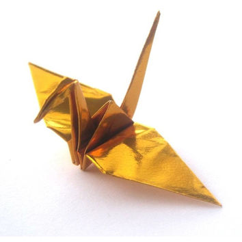 Origami Crane 50 GOLD Wedding Decor Origami Paper Cranes for Japanese Wedding Origami Birds Paper Birds Japanese Cranes
