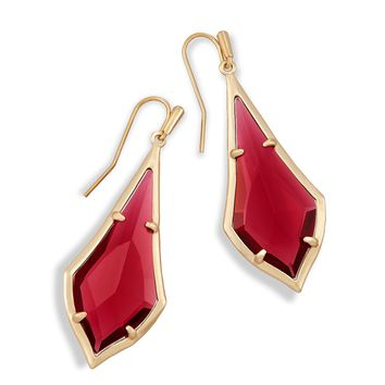 Kendra Scott - Limited Winter Seasonal - Olivia Clear Berry Brushed Silver Drop Earring