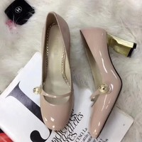 GUCCI new fashion leather high heels shoes
