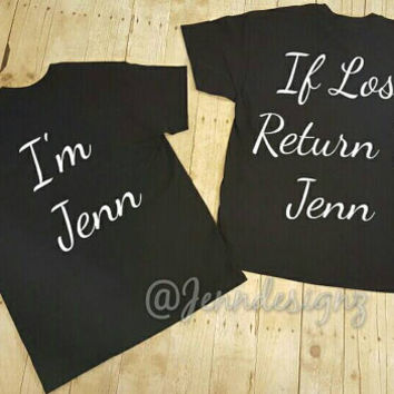 His and Her/if lost return to funny couples shirts