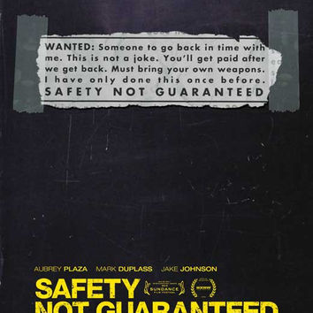 Safety Not Guaranteed 11x17 Movie Poster (2012)