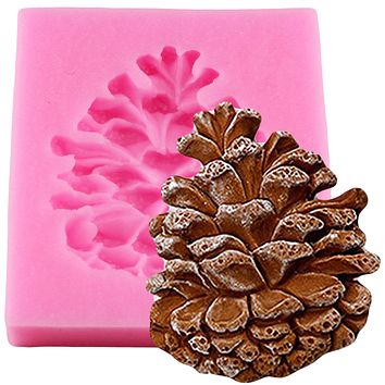 Christmas Pine Cones Shape Cake Fondant Mold Candy Chocolate Silicone Molds Biscuits Mould DIY Cake Decoration Baking Tools