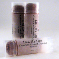 Lip Scrub - Chocolate-Frosted Cupcake - Handmade