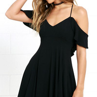 Lifetime of Love Black Backless Skater Dress