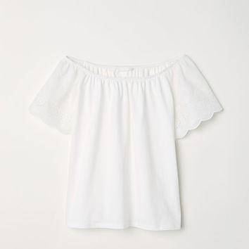 H&M Top with Embroidery $9.99