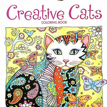 24 Pages 18.5x21cm Colouring Book Creative Haven Creative Cats Coloring Books For Adults Stress Relieving Antistress Book Hot