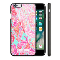 New Lilly Pulitzer Love Birds Spring iPhone 7 and 7+ Hard Plastic Case Cover