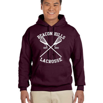 Stiles Stilinski 24 Teen Wolf Hoodie Beacon Hills Inspired Lacrosse Adult Fashion Maroon Black Hoodie
