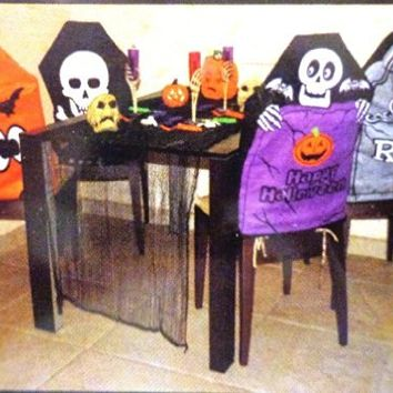 Halloween Chair Cover Set