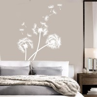 Vinyl Wall Decal Dandelion Bedroom Decoration Flower Stickers Mural Unique Gift (ig3358)