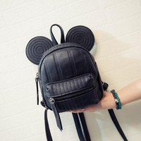 Minnie Mickey Mouse Ears Mini Swirl & Medium Non-Swirl Backpack- Available In 3 Colors- Black, Pink, Or Beige- READY TO SHIP AVAILABLE