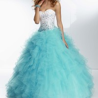 Ruffled Tulle skirt by Paparazzi by Mori Lee