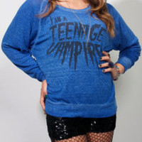 Tokyolux ? Blue Pullover Teenage Vampire