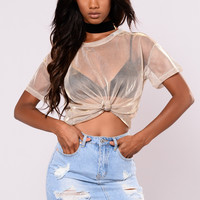 Lauren Top - Black/Gold