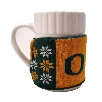 Licensed Oregon Ducks Official NCAA Ugly Sweater Christmas Mug by FC 103849 KO_19_1