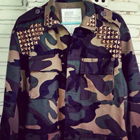 New - D.I.Y Studded Military Camo Jacket/Shirt No.880002