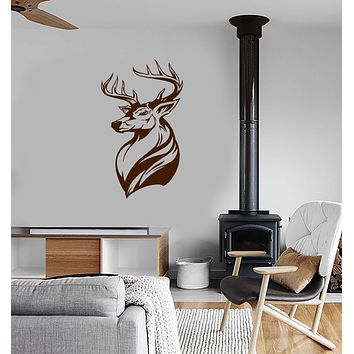 Vinyl Wall Decal Deer Animal Tribal Art Hunting Shop Interior Home Decor Stickers Mural (ig5900)