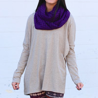 Hey Girl Basic Tunic {H. Mocha}