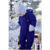 New Arrival Fashion Baby Rompers winter thick Warm romper wadded baby boy Brand blue rompers for newborns baby boy girl clothes