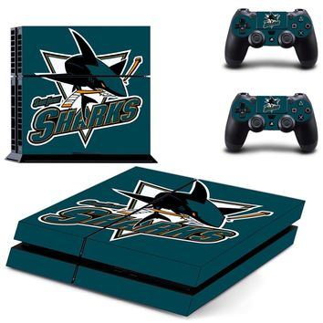 NHL Team Logo PS4 Skin Sticker Decal For Sony PlayStation 4 Console and 2 Controllers PS4 Skin Sticker Vinyl