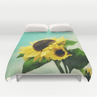 sunflowers Duvet Cover by Sylvia Cook Photography | Society6