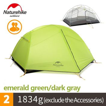 1-2 People Lightweight Outdoor Two Bedroom Double Silica Gel Tent Waterproof
