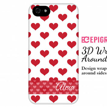 Personalized iPhone 6 case, hearts iPhone 6 plus case, valentines gifts, iPhone 5s case, iPhone 5c case, iPhone 4s case, Galaxy s5 case