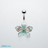 Vintage Flower Belly Ring