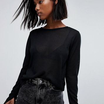 Noisy May Knitted Crew Neck Jumper at asos.com