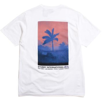 Fire Palm T-Shirt White