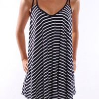 Forty Knots Dress Navy - Womens