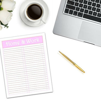 Home & Work To Do List Printable | to do list | checklist | work organizer | work tool | work list | home tool | home to do list | PDF