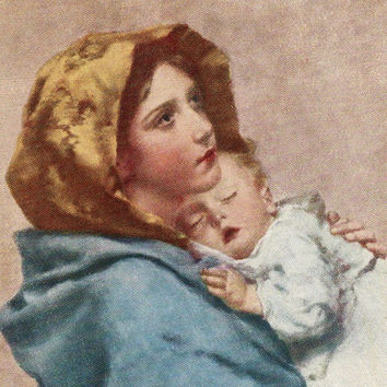 Beautiful Antique UNUSED Mother And Child Postcard Early 1900s