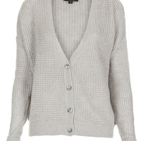 Knitted Textured Grunge Cardi - Knitwear - Clothing - Topshop