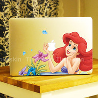 Disney Ariel Little Mermaid Decal for Macbook Pro, Air or Ipad Stickers Macbook Decals Apple Decal for Macbook Pro / Macbook Air 13122