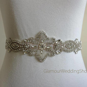 Wedding Belt Bridal Belt Sash Bridal Sash Belt Crystal Sash Rhinestone Belt Wedding Belt Sash Crystal Wedding Belt