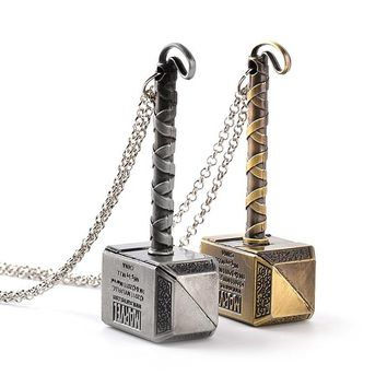 Classic Thor Hammer pendant Marvel Avengers Dark World Necklace Mjolnir Pendant Necklace Jewelry to like  People  free shipping