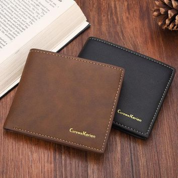 NewHigh Quality Men's PU Leather Wallets Hot Sale Fashion Money Bag Wallet Man Clutch Business Card Purse ID Holder Package