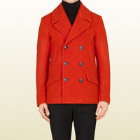 orange casentino wool peacoat 352973Z68287750